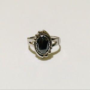 ⚜️HEMATITE GEMSTONE 925 Sterling Silver RING⚜️
